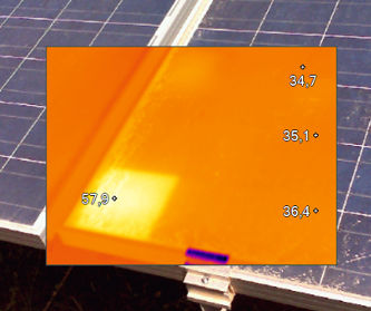 Hot spot in photovoltaic module